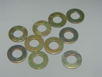 """10 x Flat Steel Washers Fit 2BA or 3/16"""" Bolt 3/8"""" Outer Diam Part SP26-C [L8]"""