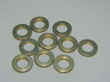 """10 x Flat Washers Fit 3/16"""" or M5 Metric Screw or Bolt Part EN2138-05016 [L5]"""