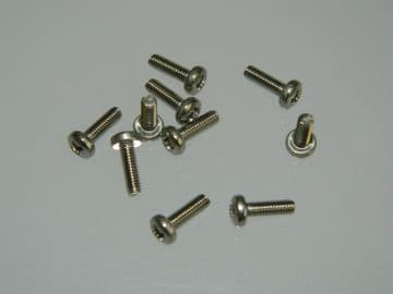 10 x M2.5 Screws Pan Head Stainless Steel Length 8mm [K4]