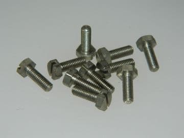 10 x M4 Bolts Hex Head Metric Stainless Steel Fully Threaded Length 12mm  [J15]