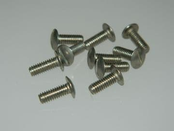 10 x M4 Screws Slotted Mushroom Head Stainless Steel Length 10mm [W14]
