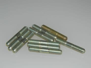 10 x M5 Threaded Stud Steel Length 28.04mm [G14]