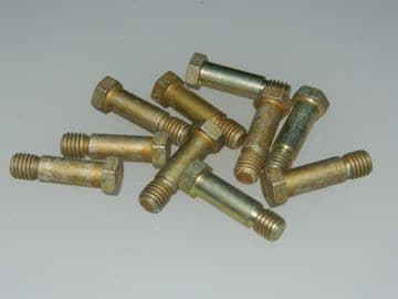 """12 x 1/4"""" BSF Bolts Hex Head Shouldered Steel Length 7/8"""" Part DHS382-6E [P1]"""