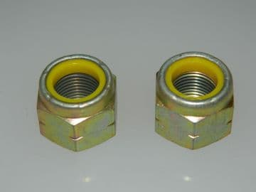"2 x 5/8"" UNF Nyloc Steel Hex Nut Self Locking Part No. F52NE1018 [B16]"