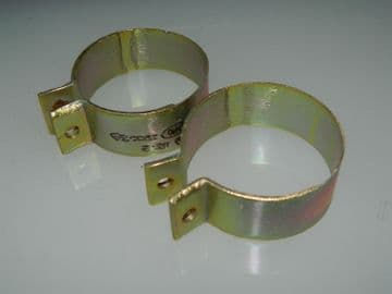 """2 x Bonding Clips 1 5/8"""" Clamp Size Width 3/4"""" Cadmium Plated Steel [M3]"""