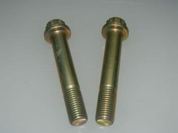 2 x M12 Double Hex Head Steel Bolts Drilled Head Length 71mm [L12]