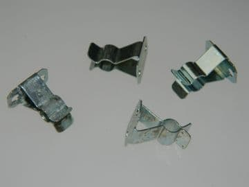 4 x Mounting Clips Steel For 4mm Diameter Rod or Tube [C12]