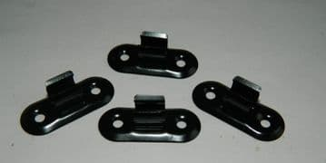 4 x Tension Spring Clips Approx 1cm Grip Part No.82037  [I5]