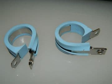 """5 x 1 1/8"""" Pipe Clip With Electrical Bonding Strip Rubber Covered [AH7]"""