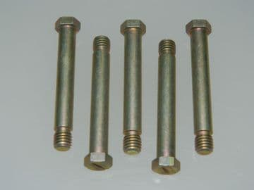 """5 x 1/4"""" BSF Bolts Hex Head Shouldered Length 1 13/16"""" Part DHS382-15-1-2E [B11]"""
