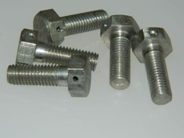 """5 x 1/4"""" UNF Bolts Drilled Hex Head Steel Length 3/4"""" [R6]"""