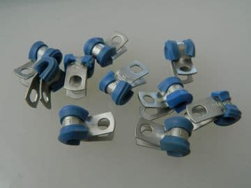 """5 x 1/8"""" Pipe Clip With Rubber Insert Part LN9490BM4 [END1H]"""