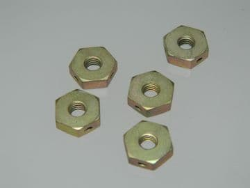 """5 x 2BA Nuts Steel Full Hex Nuts Thickness 1/8"""" Part 6-4CF1673 [AB8]"""