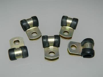 """5 x 3/16"""" Pipe Clip Cadmium Plated Steel With Rubber Insert Part B8641-3 [M2]"""