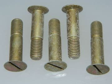 """5 x 3/8"""" BSF Bolts Slotted CSK Shouldered Length 1 5/8"""" Part SL5089-10JR1 [P15]"""