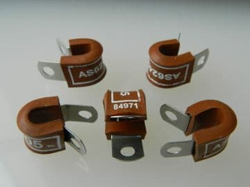 """5 x 5/16"""" Pipe Clip Aluminium Alloy With Rubber Insert Part AS62405 [M1]"""