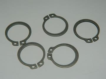 """5 x External Circlips Size 19mm or 3/4"""" Steel Part Number AGS2031-9 [R6]"""