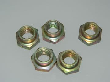 5 x M10 Skirted Nuts Steel Thickness 10mm [D9]