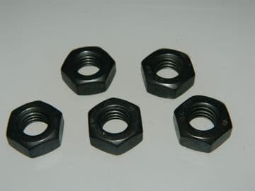 5 x M10 Stainless Steel Metric Nuts Grade A2-70 Black Coated [Q16]