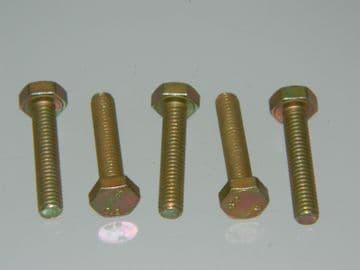 5 x M4 Hexagon Head Bolts Cadmium Plated Steel 20mm Fully Threaded Length [D11]
