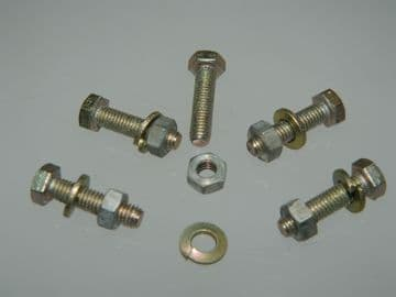 5 x M5 Bolts Nut and Spring Washer Pack Metric Fastener Length 20mm [Y15]