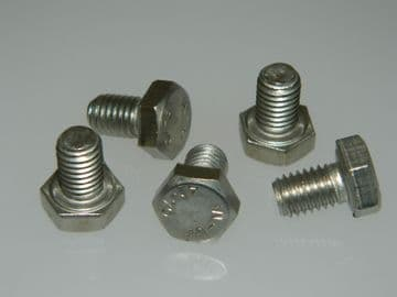 5 x M8 Bolts Hex Head Stainless Steel Fully Threaded Length 12mm [V2]