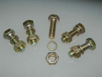 5 x M8 Bolts Nut and Spring Washer Pack Metric Fastener Length 25mm [Q22]