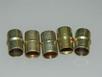 5 x Tube Sleeve Clinch Fitting Total Length: 16.78mm MS21922-6 [C8]