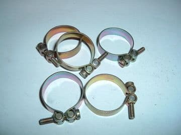 """5 x Water Pipe Bonding Clips With Slotted Screw Adjuster Fit 1"""" Pipe [Q22]"""