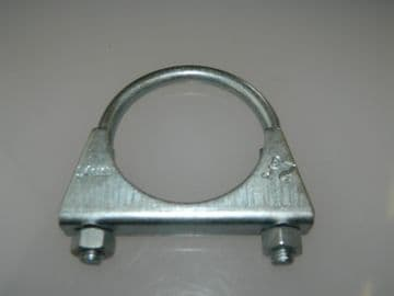 """Exhaust Clamp U Bolt BZP Pipe Clamp Fitting Measures 54mm or 2 1/8"""" [H6]"""