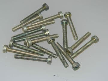 M4 Cheese Head Steel Screws Fully Threaded Metric Length 25mm Slotted Head [E9]