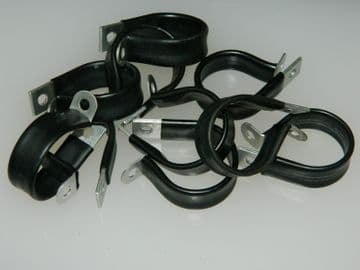 """P Clips Rubber Coated Clamps For 1 1/8"""" Pipe Part AS3180-18C [AH12]"""