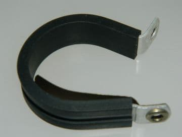 """Rubber Covered Insulated P Clamp For 1 1/4"""" Pipe Part AS4525-20 [I3]"""