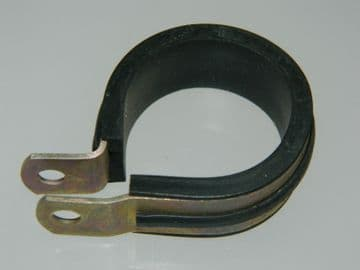 """Support Clamp Rubber Covered P Clamp For 1 3/16"""" Pipe Part AS5419-19 [F2]"""