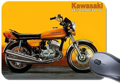 2 Stroke 750 H2 Mach IV Advert  Mouse Mat. Motorcycle Motorbike Mouse pad
