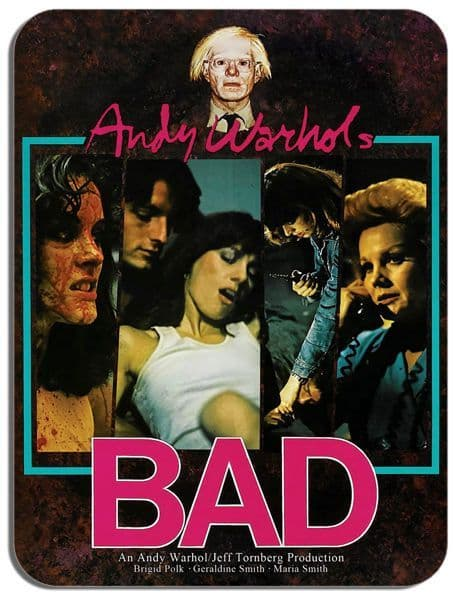 Andy Warhol's Bad Mouse Mat. Cult Movie Film Memorabilia Poster Mouse Pad