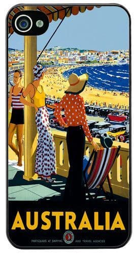 Australia Vintage 1930's Travel Advert High Quality Cover/Case Fits iPhone 4/4S