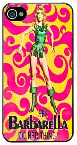 Barbarella Vintage Movie Film Poster #2 Cover/Case Fits iPhone 4/4S. Sci Fi Gift