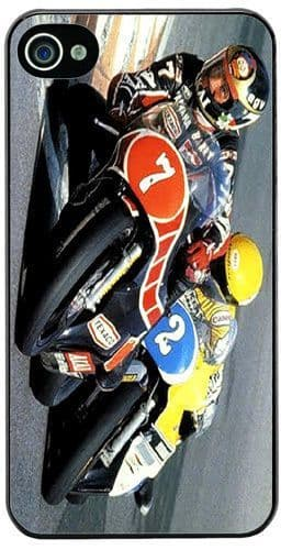 Barry Sheene vs Kenny Roberts Cover/Case For iPhone 4/4S Motorcycle Racing Biker