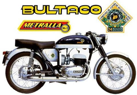 Bultaco Metralla MK2 Motorcycle T-Shirt. Gents, Ladies & Kids Sizes bike Tee