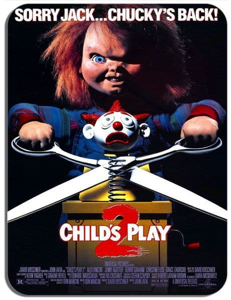Child's Play 2 Chucky Vintage Film Poster Mouse Mat. High Quality Mouse pad