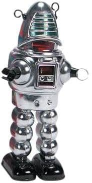 Chrome Sparking Space Robot