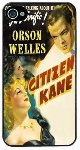 Citizen Kane Vintage Film Poster HD Quality Cover/Case Fits iPhone 4/4S Classic