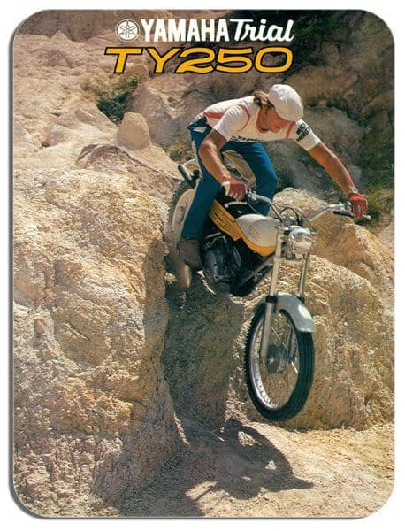 Classic TY250 Trial Mick Andrews Motorcycle Mouse Mat. Motorbike Mouse pad Biker