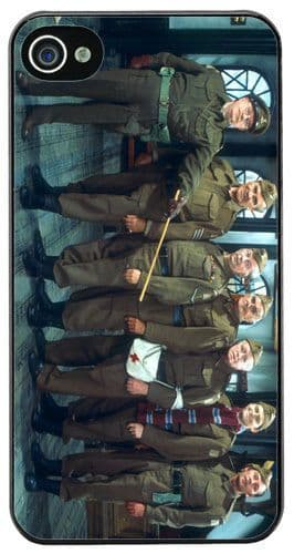 Dads Army Clip Cover Case Fits iPhone 4/4S Classic British 70's Television Show
