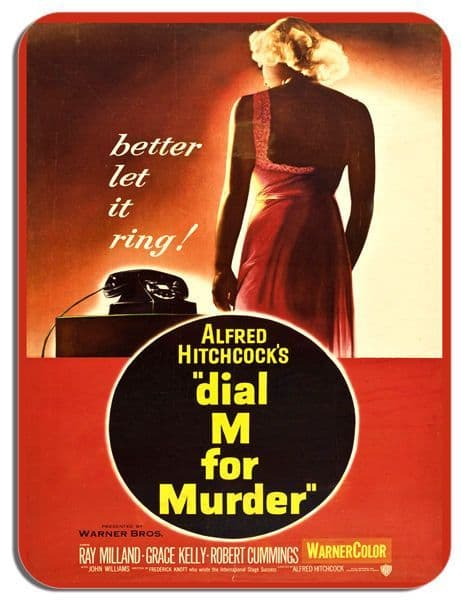 Dial M For Murder Alfred Hitchcock Mouse Mat Quality Film Movie Poster Mouse Pad