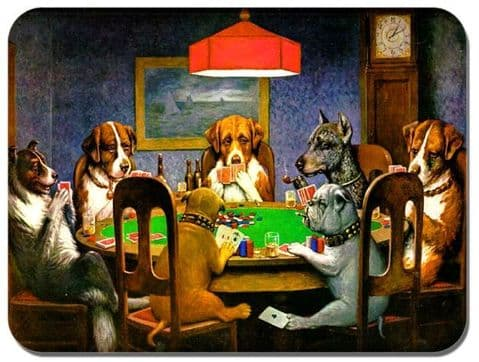 Dogs Playing Poker Mouse Mat. Quality Art Mouse Pad