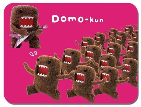 Domo Kun Mouse Mat Cartoon Animation Comic Novelty Pink Mouse pad Domokun