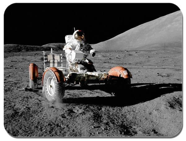 Driving On The Moon Mouse Mat. Nasa Apollo 17 LRV Rover High Quality Mouse Pad
