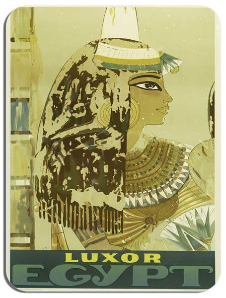Egypt Luxor Vintage Tourism Poster Mouse Mat. Travel Ad High Quality Mouse Pad